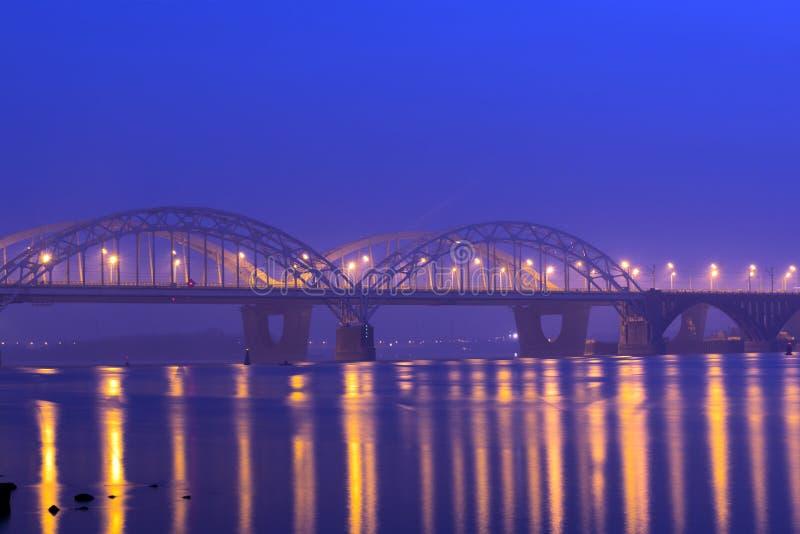 Darnitskiy bridge stock photography