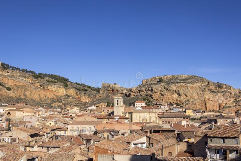 Daroca è una città e un comune nella provincia di Saragozza, A fotografia stock libera da diritti