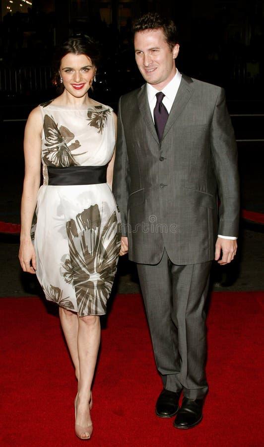 Darren Aronofsky en Rachel Weisz royalty-vrije stock afbeeldingen
