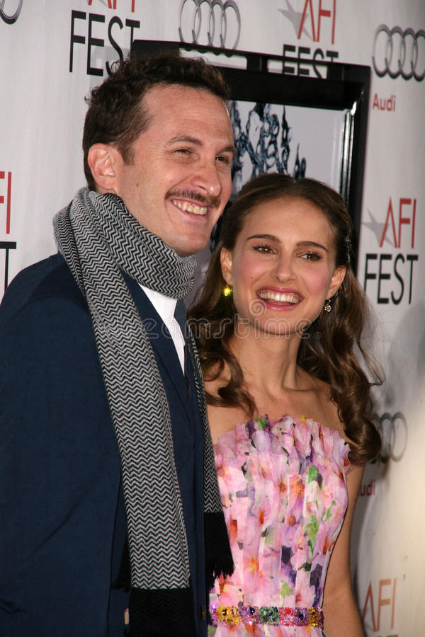 Darren Aronofsky, Natalie Portman royalty-vrije stock afbeeldingen
