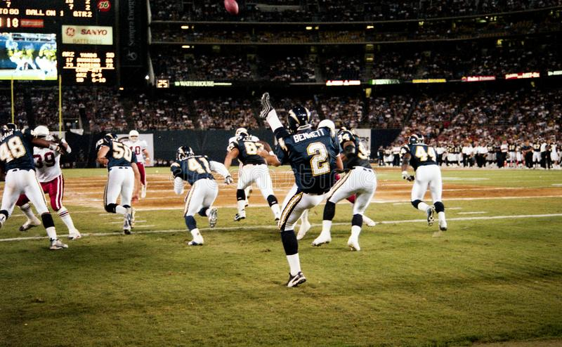 Darren Bennett, San Diego Chargers. San Diego Chargers punter Darren Bennett, #2. Image taken from color slide royalty free stock images
