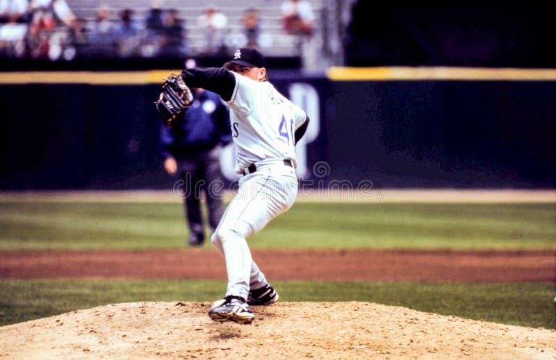 Darren Holmes, Colorado Rockies. Colorado Rockies pitcher Darren Holmes #40. (Image taken from color slide stock image