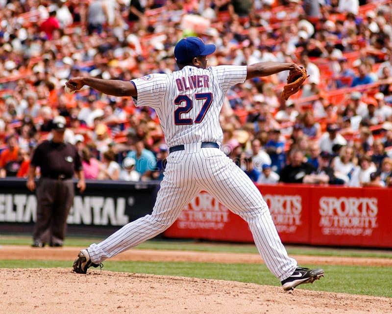 Darren Oliver, New York Mets imágenes de archivo libres de regalías