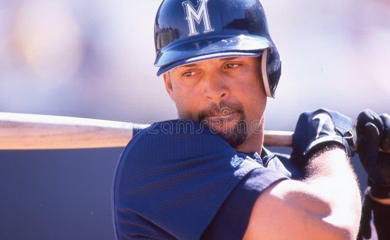 Darrin Jackson, Milwaukee Brewers lizenzfreies stockbild