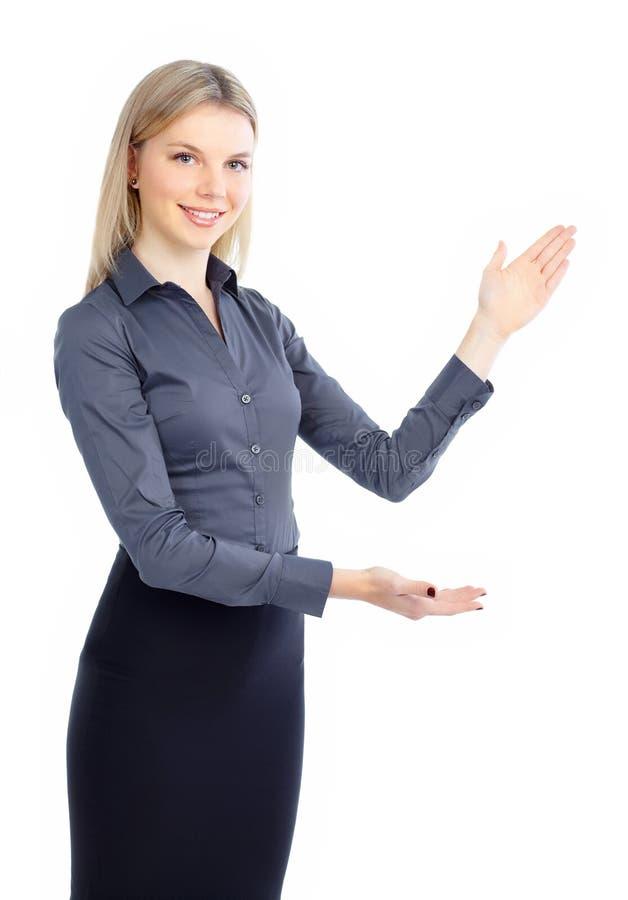 Darstellen der Geschäftsfrau stockbild