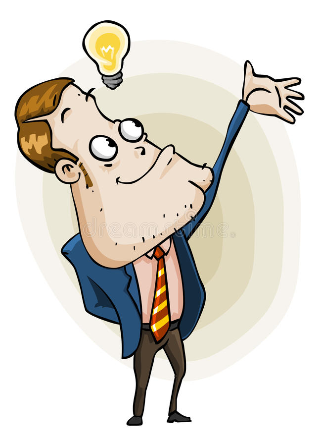 Darstellen von Idee. Karikatur-Serie vektor abbildung