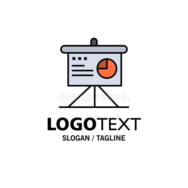 Darstellung, Analytics, Brett, Geschäfts-Geschäft Logo Template flache Farbe vektor abbildung