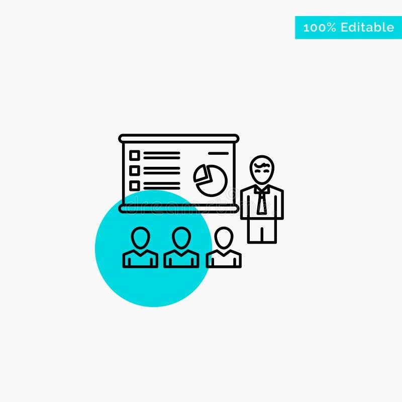 Darstellung, Analytics, Geschäft, Diagramm, Marketing, Leute, Statistiktürkishöhepunktkreispunkt Vektorikone vektor abbildung
