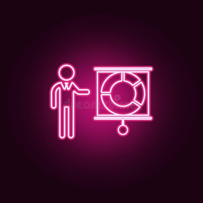 Darstellung der Finanzindikatorikone Elemente von Stunde u. von Hitzejagd in den Neonartikonen Einfache Ikone für Website, Webdes vektor abbildung