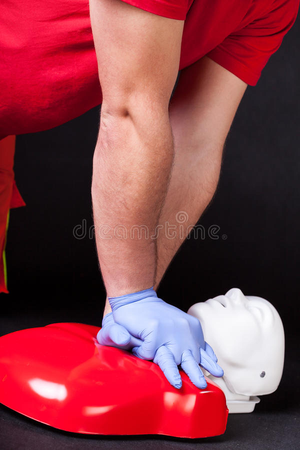 Darstellung der Herzmassage lizenzfreie stockfotografie