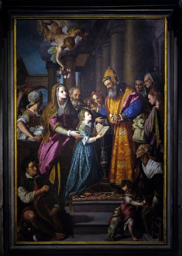 Darstellung von Mary im Tempel stockfoto