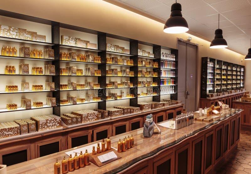 Darstellungsduftparfüm zur Parfümfabrik Fragonar stockfotografie