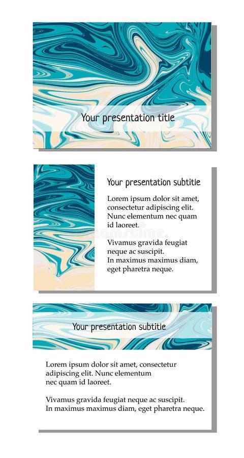 Darstellungsschablone mit blauem Tonzusammenfassungshintergrund stock abbildung