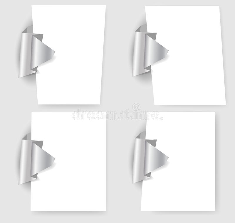 Darstellungsschablonen mit origami Element vektor abbildung