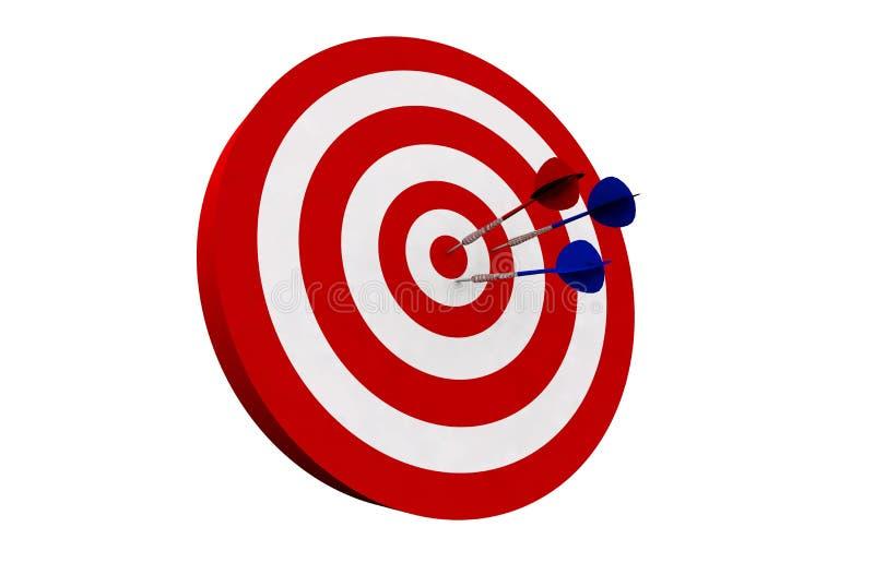 Dart board vector illustration