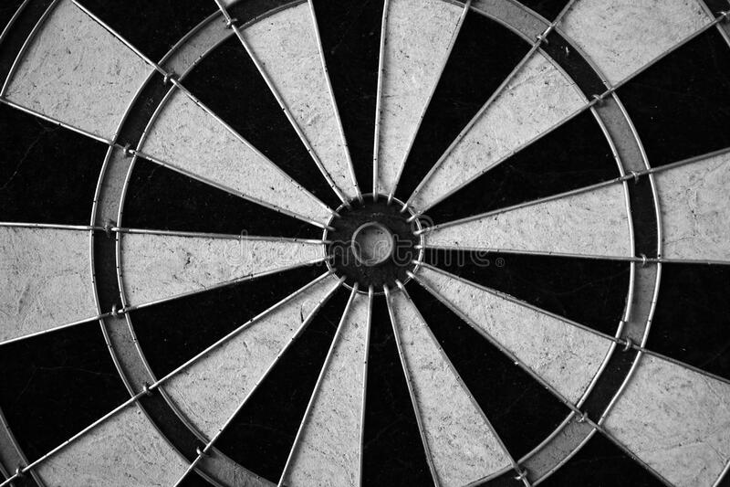 Dart Board In Black And White Free Public Domain Cc0 Image