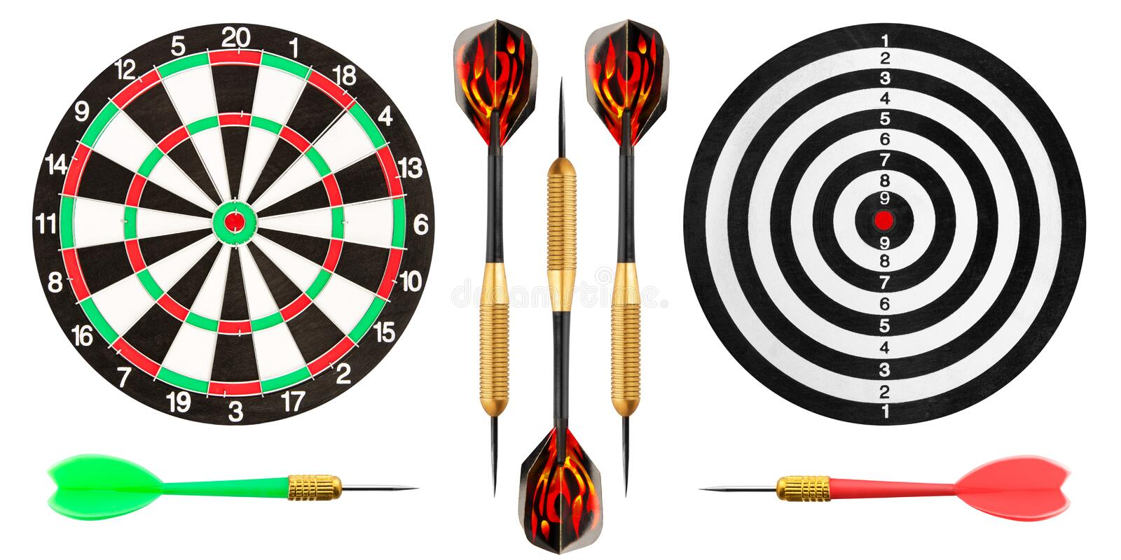 Download Dart Board And Darts On White Background Stock Photo - Image: 38960448
