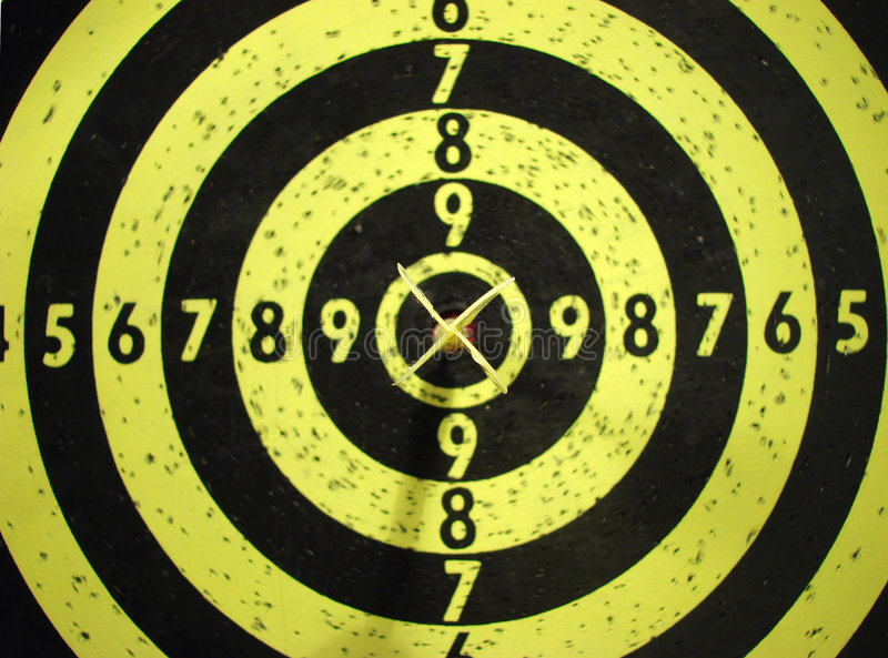 Dart-board ed obiettivo immagine stock libera da diritti