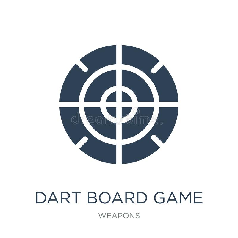 dart board game icon in trendy design style. dart board game icon isolated on white background. dart board game vector icon simple royalty free illustration