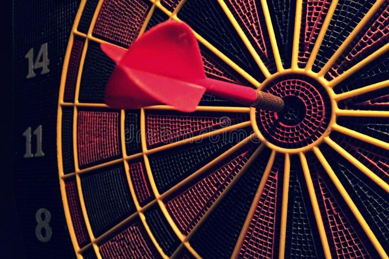 Dart Board On Target stock image