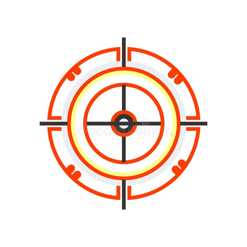 Dart board icon vector sign and symbol isolated on white background, Dart board logo concept vector illustration