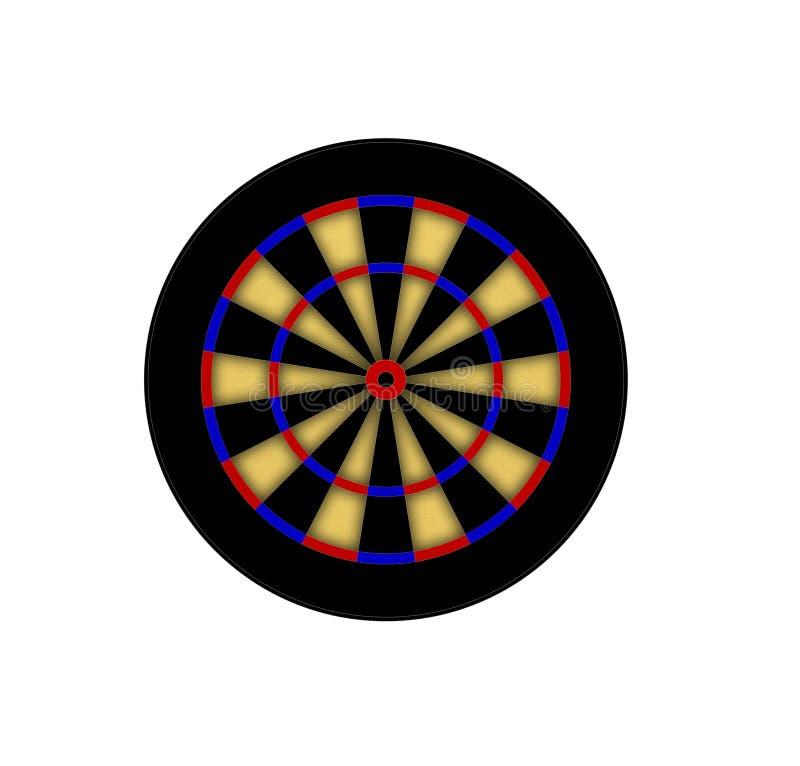 Dart board. Isolated on white background royalty free illustration
