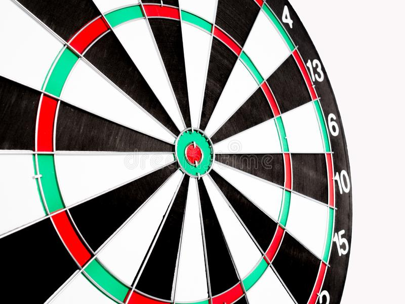 Dart Board Isolated on White background, Setting challenging business goals And ready to achieve the goal concept royalty free stock image