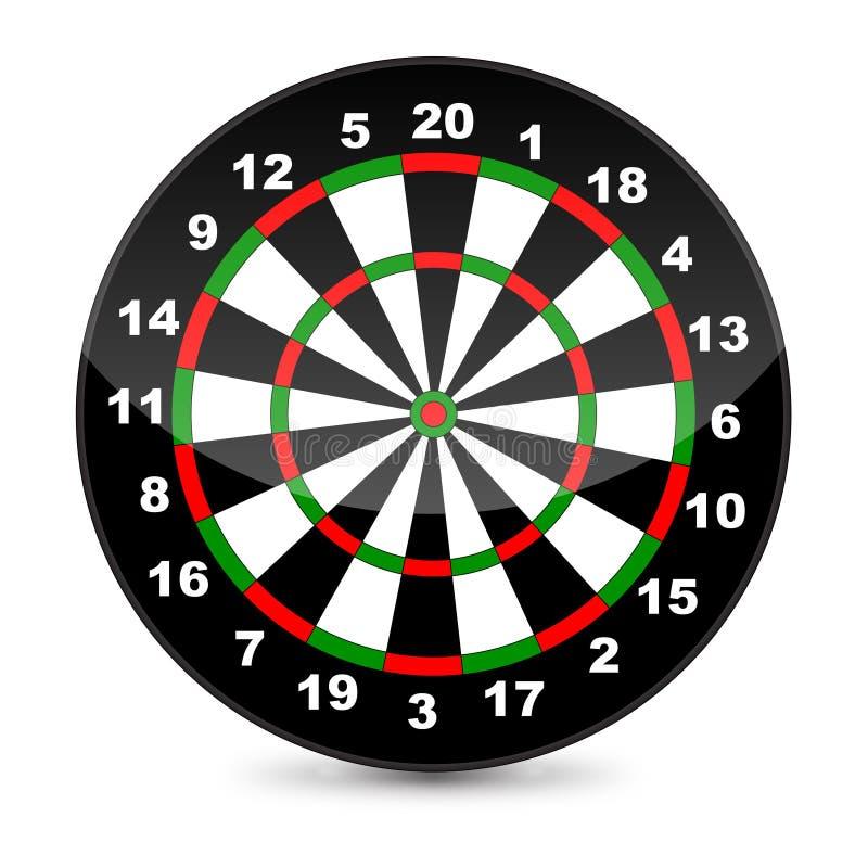 Download Dart board stock vector. Illustration of vector, digits - 31215265