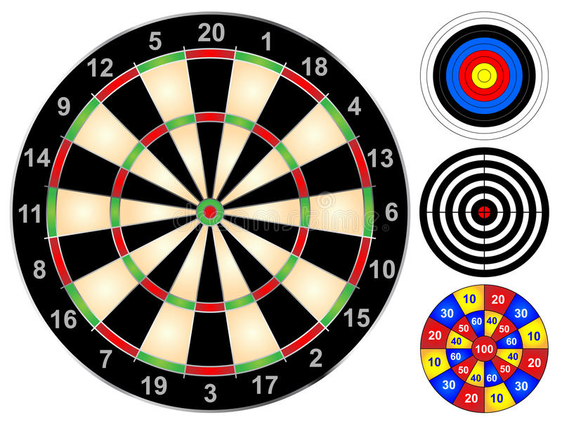 Download Dart Boards stock vector. Illustration of archery, shoot - 32970692