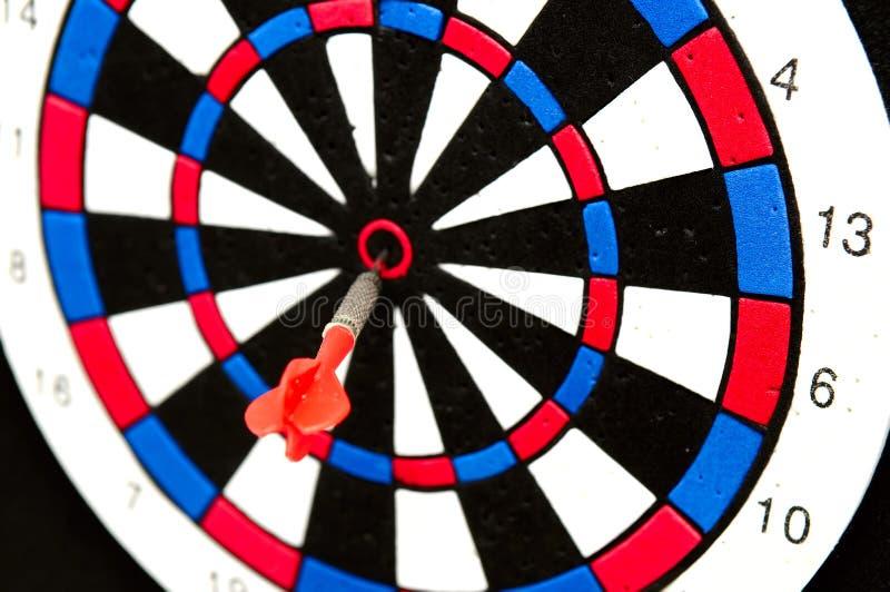 Dart On The Bullseye Stock Image