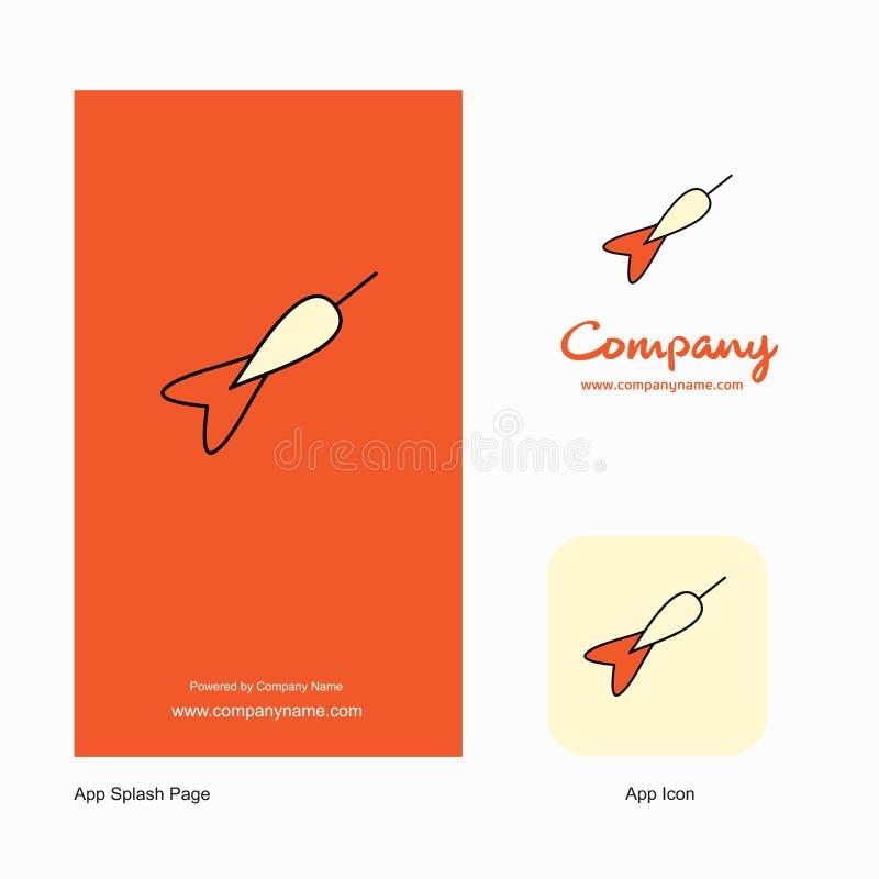 Dart Company商标应用程序象和飞溅页设计 r 向量例证