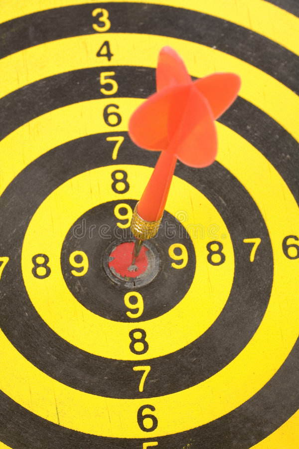 A dart on a dartboard. Concept of success royalty free stock photography