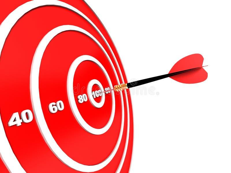 Download Dart hitting the target stock illustration. Illustration of challenge - 21823943