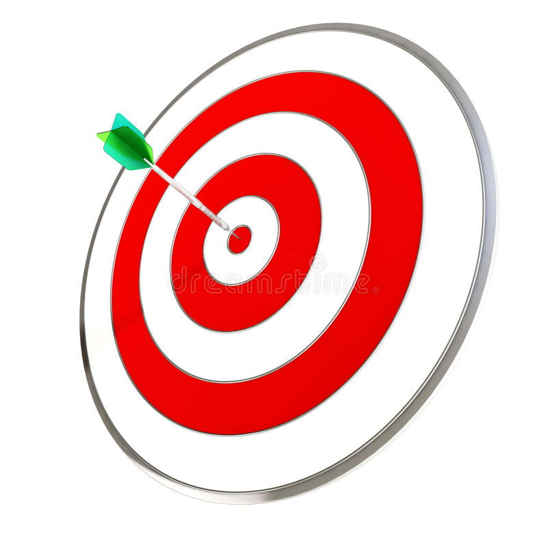 Download Dart Hitting A Target stock illustration. Image of idea - 22272055