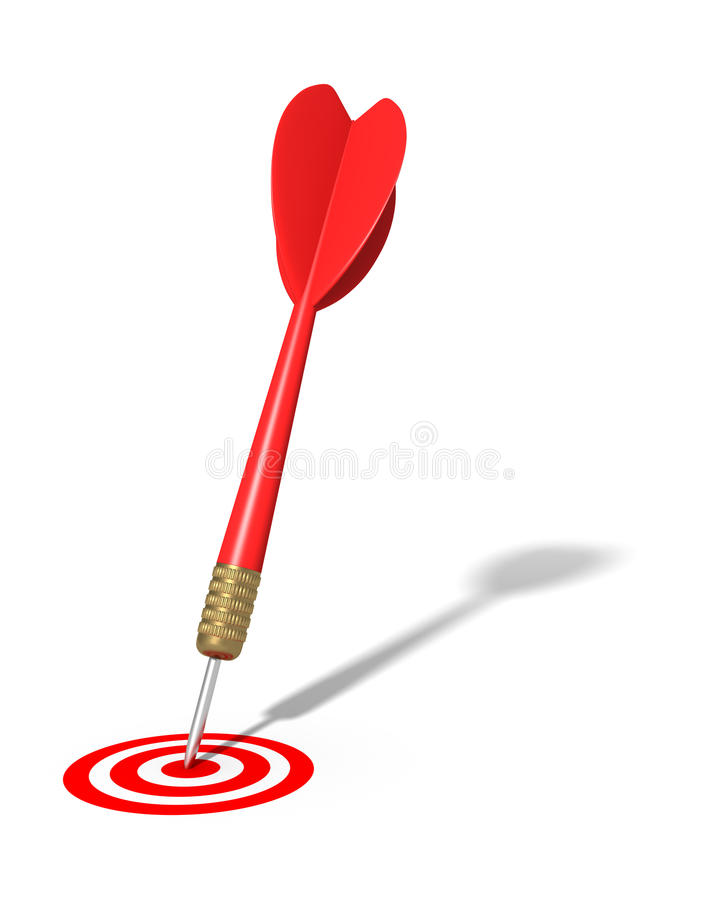 Download Dart Hitting Target (isolated) Stock Illustration - Illustration: 19708519
