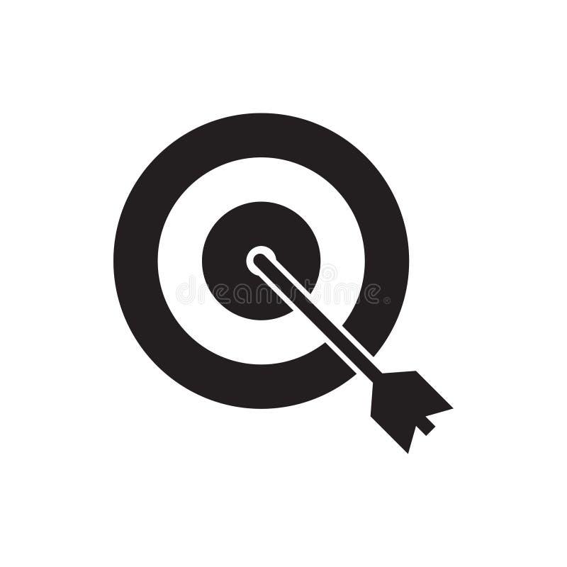 Dart icon graphic design template vector. Illustration success winner target opportunity center business goal efficiency dartboard flat solution hit objective vector illustration