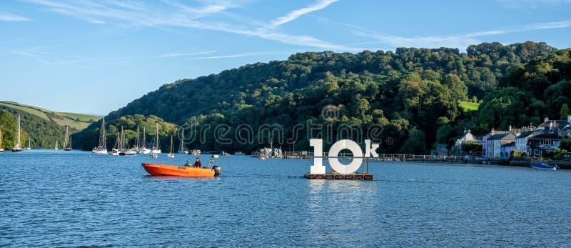Dart 10K Swim 2019 - Dittisham Ham, Devon. United Kingdom royalty free stock images