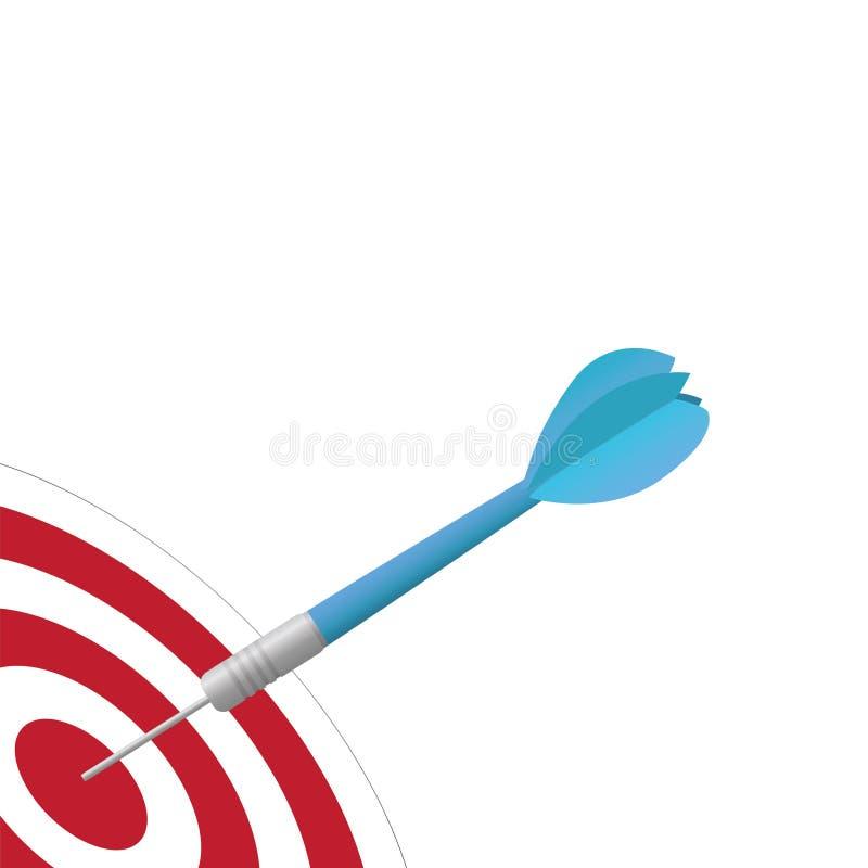 Download Dart on Target stock vector. Illustration of concept - 26164162