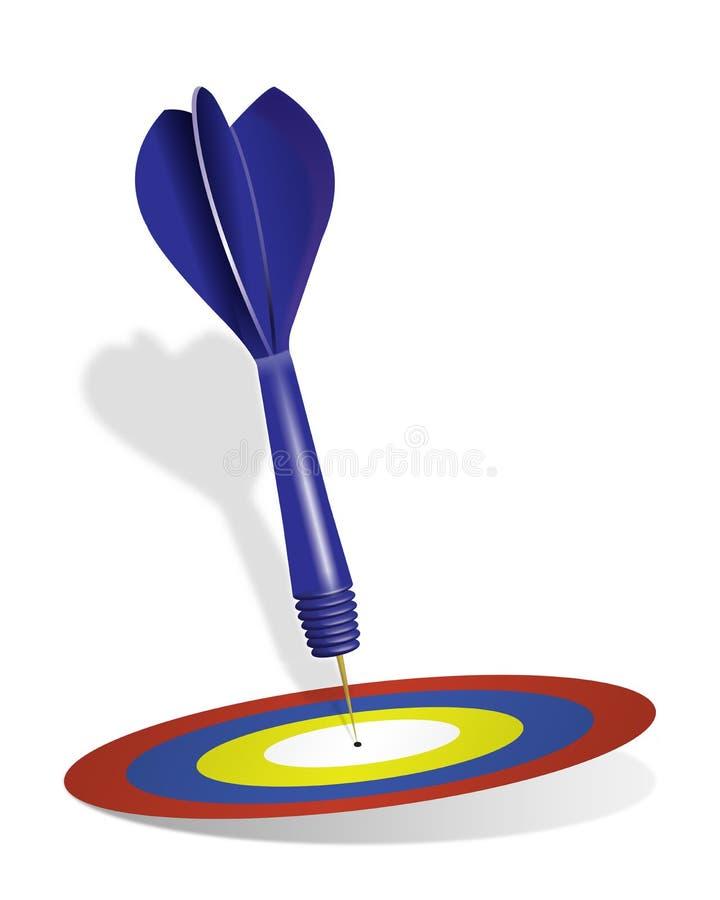 dartboard дротика иллюстрация вектора