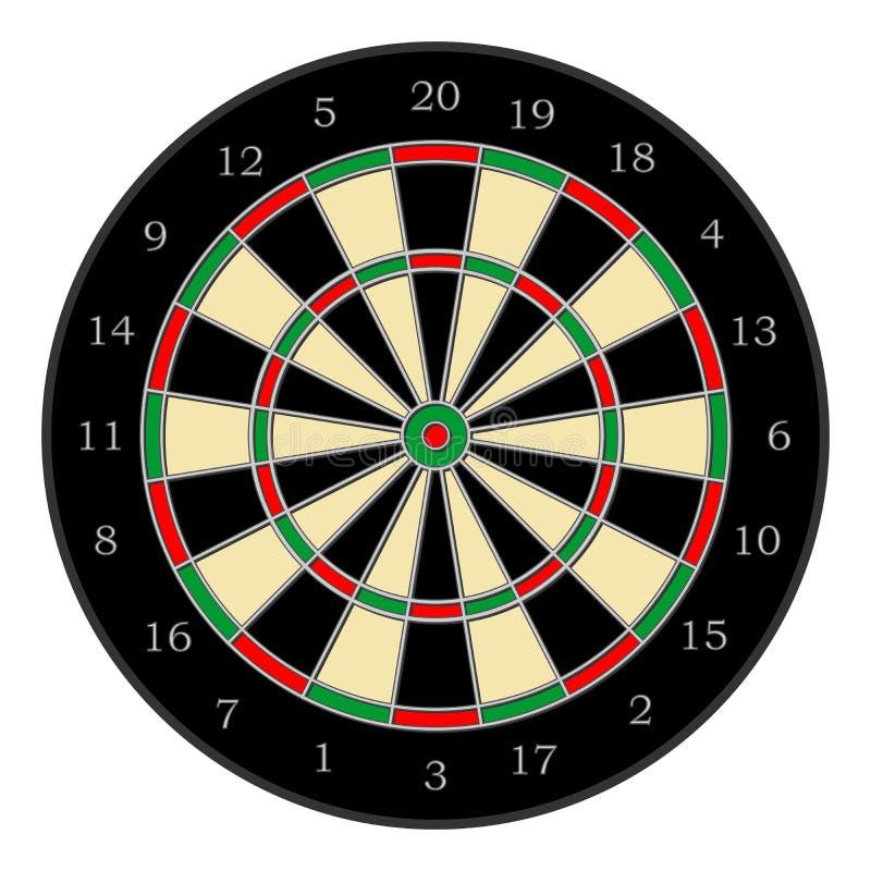dartboard 01 royaltyfri illustrationer