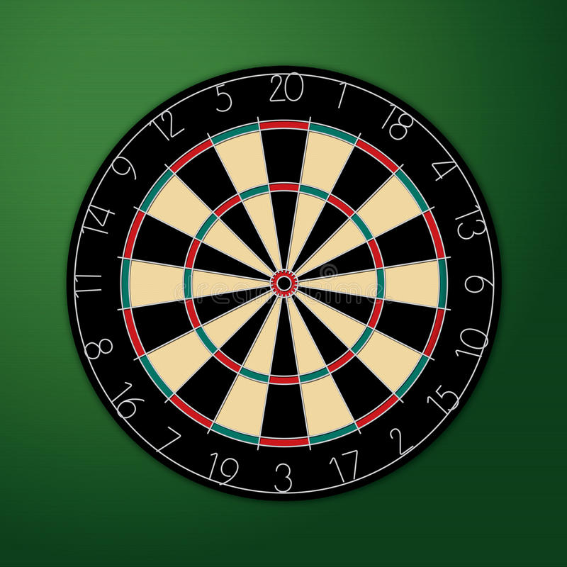Dartboard vector illustratie
