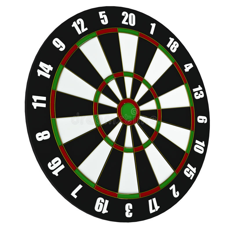 Dartboard stock photo