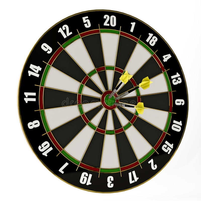 Dartboard stock images