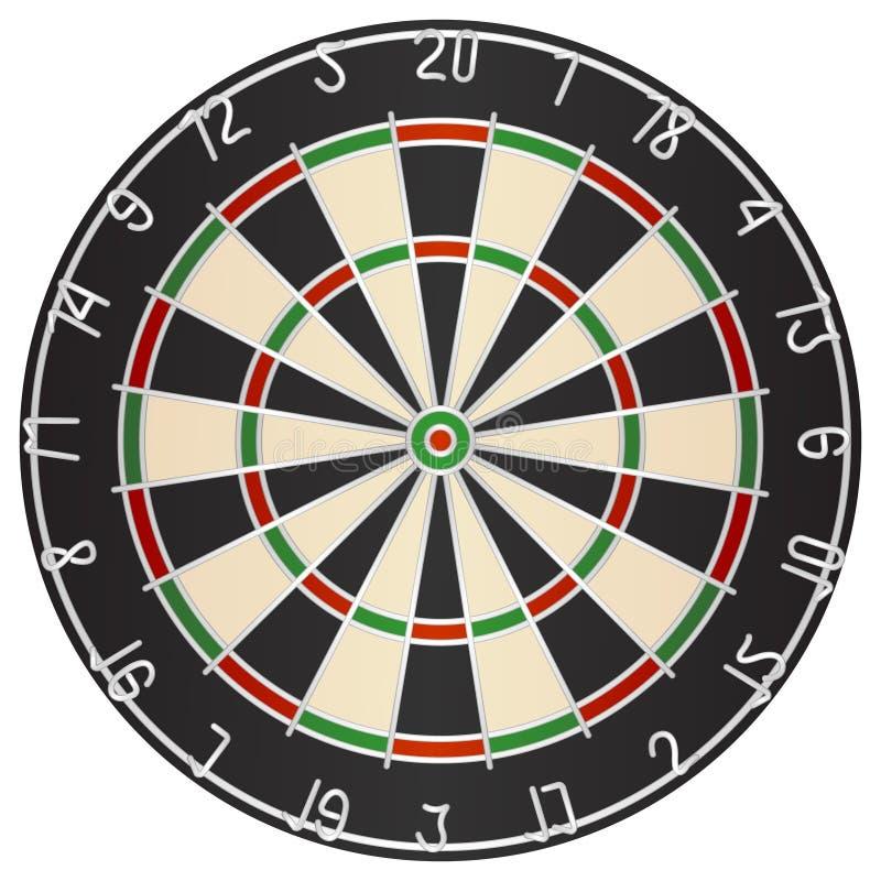 dartboard royaltyfri illustrationer