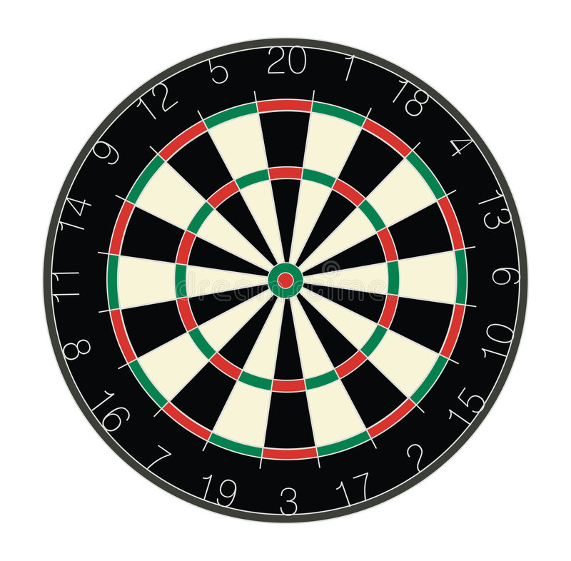 Download Dartboard stock illustration. Image of round, dartboard - 184518