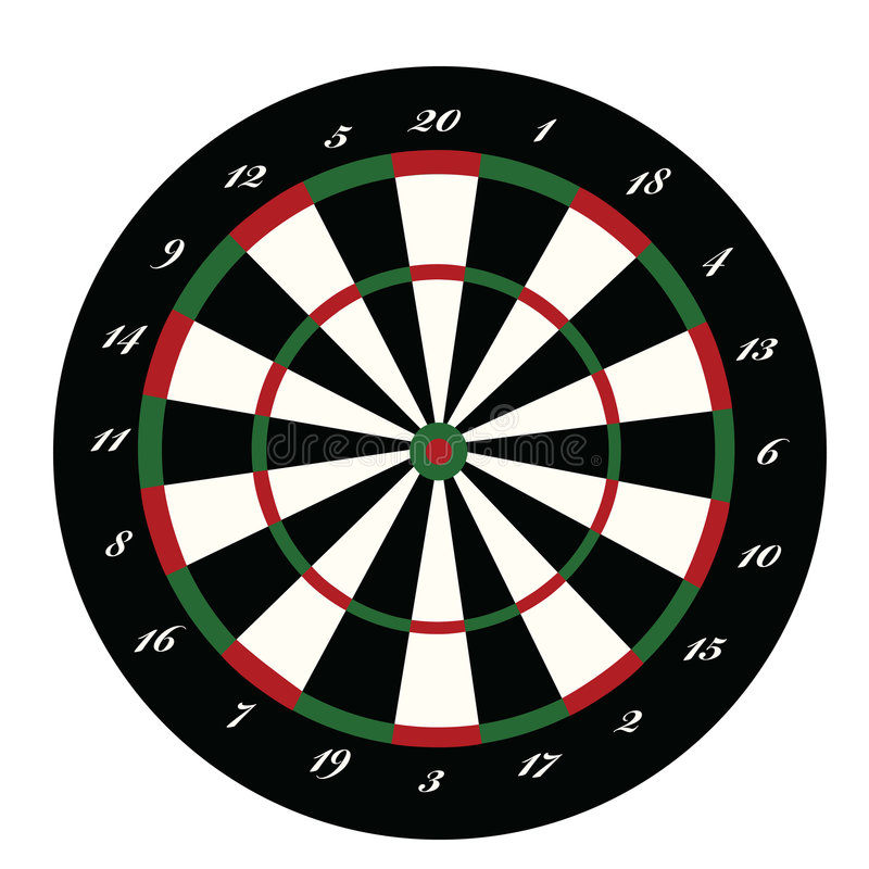 Dartboard stock illustratie