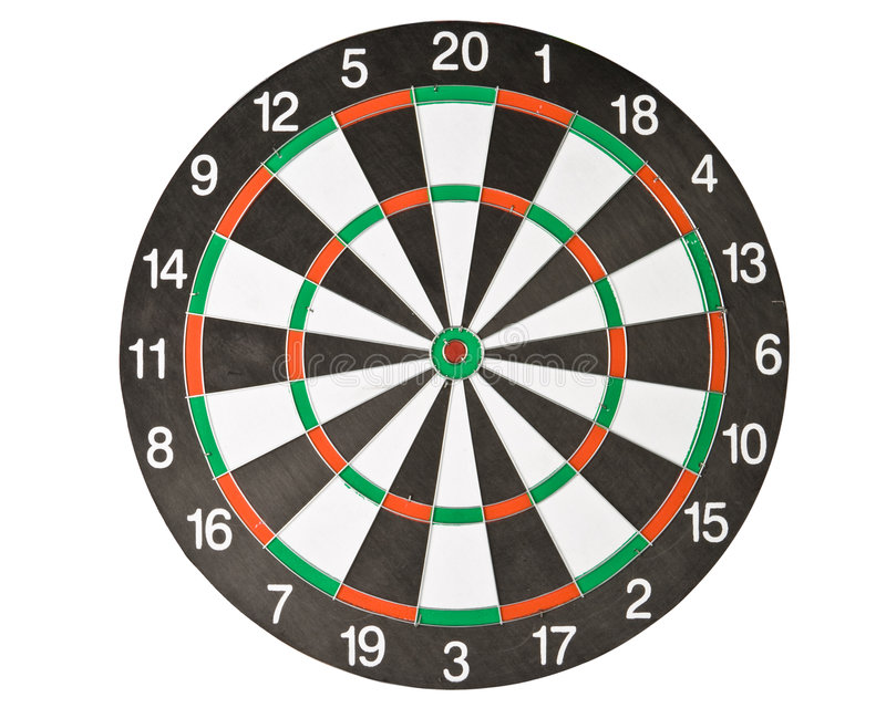 Dartboard. On a white background. Close up stock images