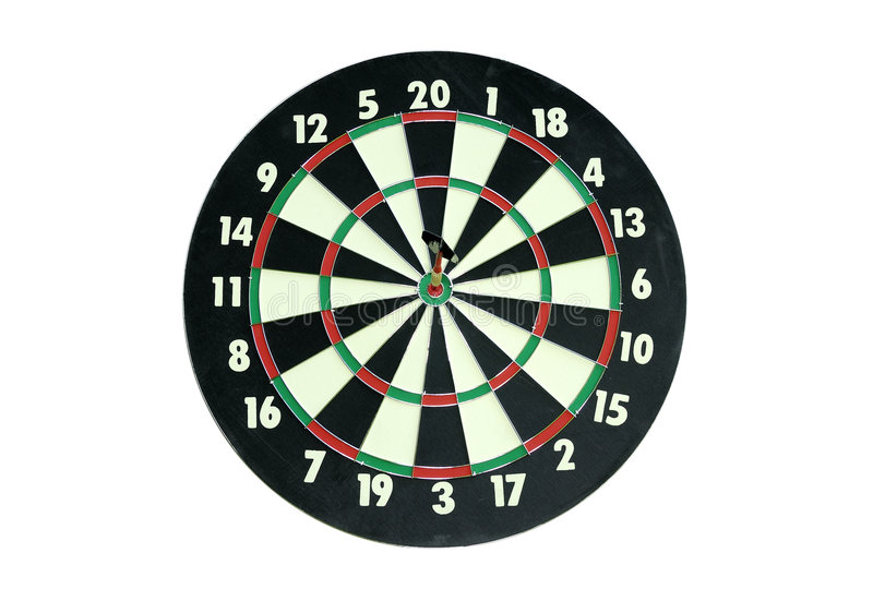 Dartboard. Isolated Dartboard royalty free stock images