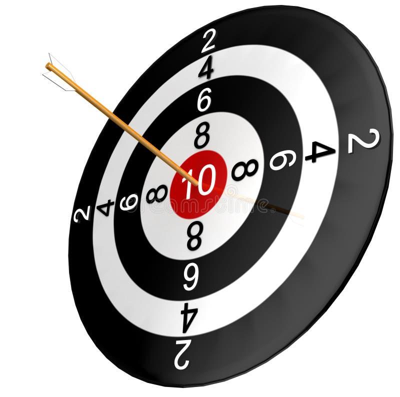 Dartboard con la freccia illustrazione di stock