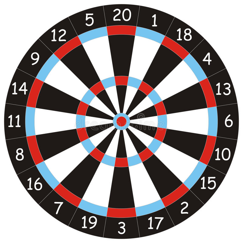 Dartboard For Darts Playing Royalty Free Stock Image